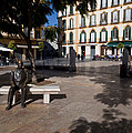 Scupture Of Picasso On The Plaza De La by Panoramic Images