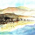 Sea And Mountains by Karina Plachetka