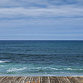 Sea And Wooden Platform by Paulo Goncalves