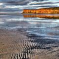 Sea Coal Saltburn Sunset by Gary Eason