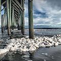 Sea Foam And Pier by Phil Mancuso