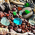 Sea Glass Art Prints Beach Seaglass by Baslee Troutman