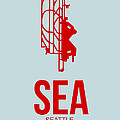 Sea Seattle Airport Poster 1 by Naxart Studio