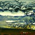 Seabirds Rising From The Marsh 2-27-15  by Julianne Felton