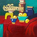 Seafoam Green On Red Velvet by Margaret Harmon
