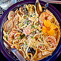 Seafood Fetticinni Alfredo At Cafe Cups Restaurant In Homer-ak   by Ruth Hager