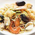 Seafood Pasta Dish by Jacek Malipan