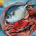 Seafood Still Life by Larisa Ivakina-Clevenger
