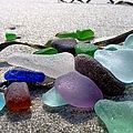 Seaglass And Seaweed by Janice Drew