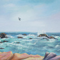 Seagull Over The Ocean by Asha Carolyn Young