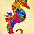 Seahorse Watercolor Art by Christina Rollo