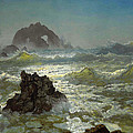 Seal Rock California by Albert Bierstadt