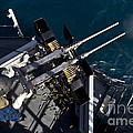 Seaman Fires Twin .50 Caliber Machine by Stocktrek Images
