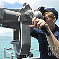 Seaman Mans The Big Eyes Aboard by Stocktrek Images
