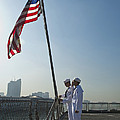 Seamen Participate In Morning Colors by Stocktrek Images