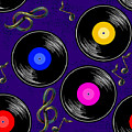 Seamless Music Pattern With Vinyl by Artskvortsova