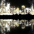 Sears Tower Dominated Skyline Lake Reflection  by Ellen Cannon
