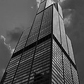 Sears Willis Tower Black And White 01 by Thomas Woolworth