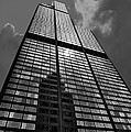 Sears Willis Tower Black And White 02 by Thomas Woolworth