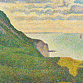 Seascape At Port En Bessin Normandy by Georges Seurat