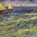 Seascape At Saintes-maries 1888 by Vincent van Gogh