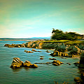Seaside In The Distance Digital by Barbara Snyder