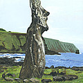 Seaside Moai by Brent Charbonneau