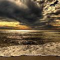 Seaside Sundown With Dramatic Sky by Julis Simo