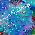 Season Greetings - Snowflakes by Kathy Moll