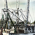 Seasoned Fishing Boat by Debra Forand