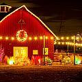 Seasons Greetings Barn by Teri Virbickis