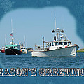 Season's Greetings Holiday Card - Boats In Peaceful Harbor by Mother Nature