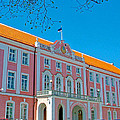 Seat Of Parliament In Old Town Tallinn-estonia by Ruth Hager