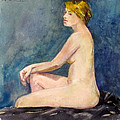 Seated Blond Nude by Mark Lunde