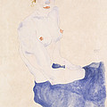 Seated Blue Nude, 1911 by Egon Schiele