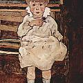 Seated Child by Egon Schiele