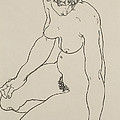 Seated Female Nude, 1918 by Egon Schiele