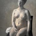 Seated Female Nude by Vilhelm Hammershoi