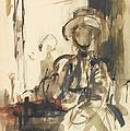 Seated Figure Woman Seated, Wearing by Philip Wilson Steer