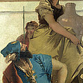 Seated Man Woman With Jar And Boy by Giovanni Battista Tiepolo