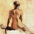 Seated Nude by Dragica  Micki Fortuna