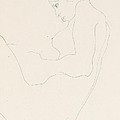 Seated Nude by Egon Schiele