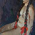 Seated Nude by Juliya Zhukova