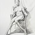Seated Nude Model Study by Irina Sztukowski