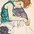 Seated Woman With Legs Drawn Up. Adele Herms by Egon Schiele