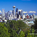 Seattle And Mt. Rainier by Bob Phillips