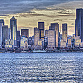 Seattle At Twilight From Alki Beach by SC Heffner