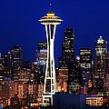 Seattle By Night by Benjamin Yeager