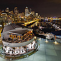 Seattle City Skyline And Marina At Night by Jit Lim