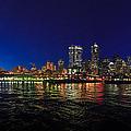 Seattle City Skyline Romance Panorama by Scott Campbell